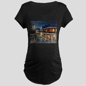 BourbonStreetNightime Maternity T-Shirt
