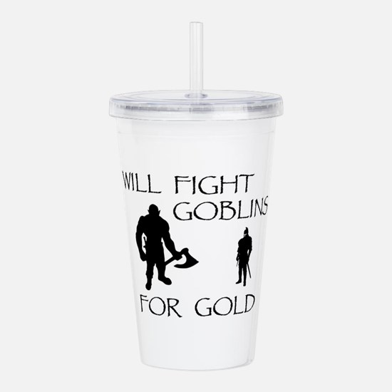 Warrior Man Quests for Acrylic Double-wall Tumbler