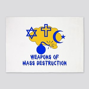 Terrorism Of Religion 5'x7'Area Rug