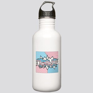 Halftone Trans Typography Water Bottle