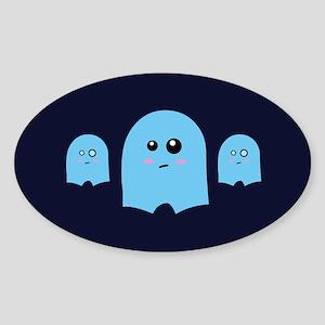 Ghostyshorts Oval Sticker