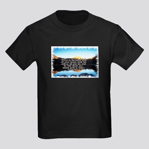 Seek His Will Kids Dark T-Shirt