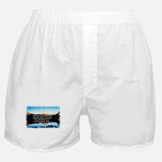 Seek His Will Boxer Shorts
