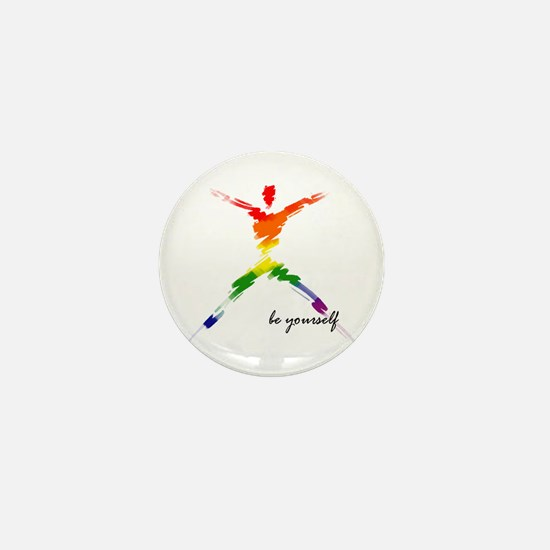 Gay Pride - Be Yourself Mini Button