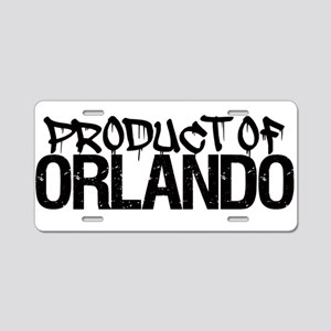PRODUCT OF ORLANDO! Aluminum License Plate