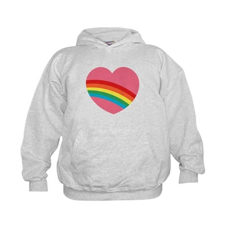 80s Rainbow Heart Kids Hoodie