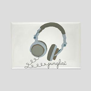 Junglist Headphones Rectangle Magnet