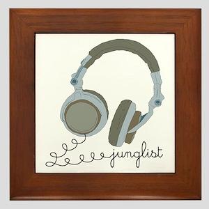 Junglist Headphones Framed Tile