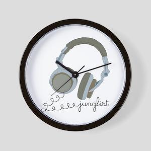 Junglist Headphones Wall Clock