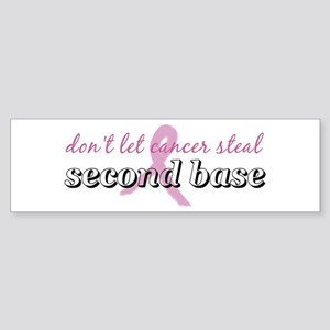 Cancer Steal 2nd Base Bumper Sticker