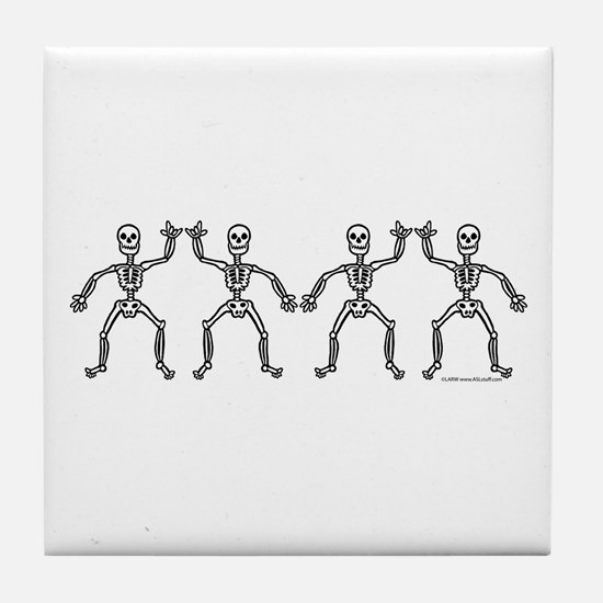 ILY SkelDance Tile Coaster