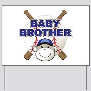 Baby Brother Baseball Yard Sign