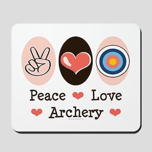 Peace Love Archery Mousepad