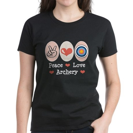 Peace Love Archery Women's Dark T-Shirt