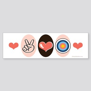 Peace Love Archery Bumper Sticker