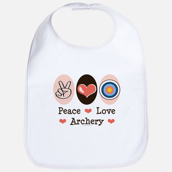 Peace Love Archery Bib