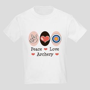 Peace Love Archery Kids Light T-Shirt