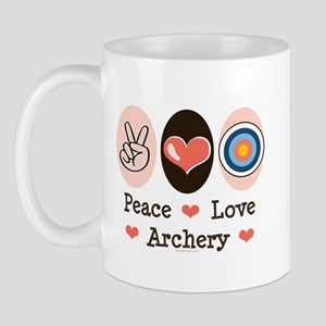 Peace Love Archery Mug