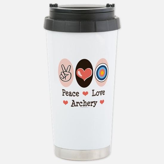 Peace Love Archery Stainless Steel Travel Mug