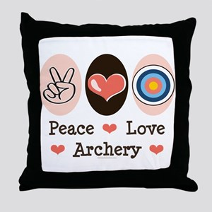 Peace Love Archery Throw Pillow