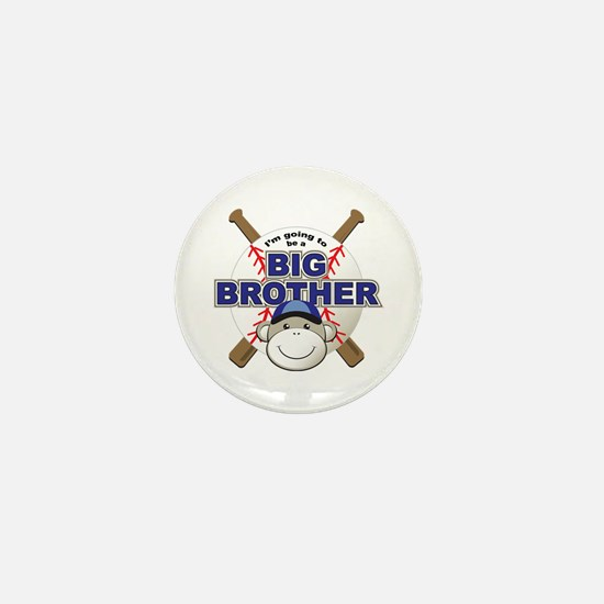 Big Brother To Be Baseball Mini Button