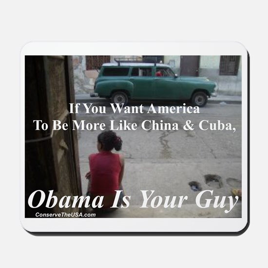 """Obama Is Your Guy?"" Mousepad"
