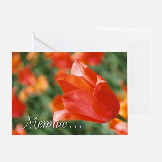 Memaw Tulips Greeting Card