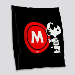 Joe Cool Monogram Burlap Throw Pillow