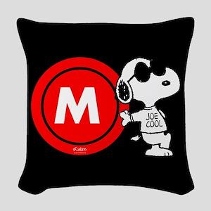 Joe Cool Monogram Woven Throw Pillow