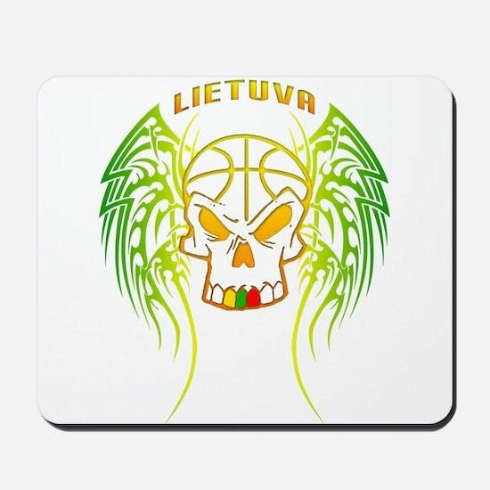 LT Basketball Tribal Skull Mousepad