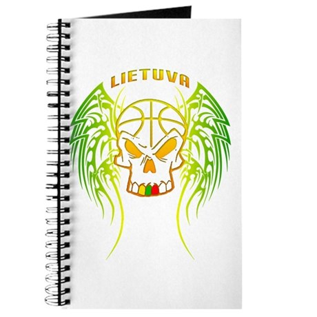 LT Basketball Tribal Skull Journal