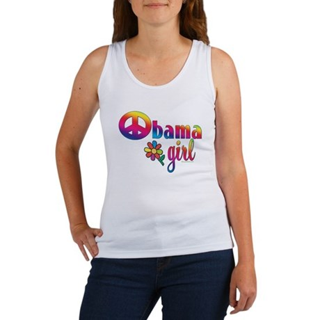 Obama Girls Peace Sign Women's Tank Top