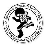 Houston Half Marathon & 10k Round Car Magnet