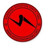 Houston Striders Round Car Magnet