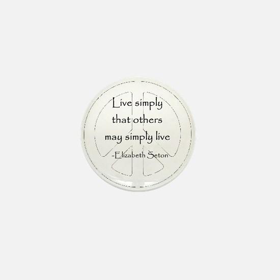 Live Simply Mini Button