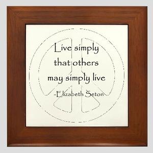 Live Simply Framed Tile