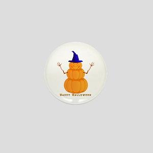Halloween Pumpkin Man Mini Button