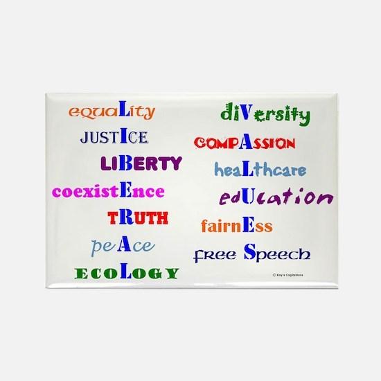 Liberal Moral Values Defined Rectangle Magnet
