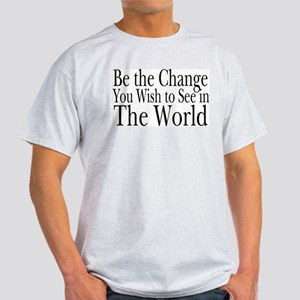 Be the Change (b&w) Ash Grey T-Shirt