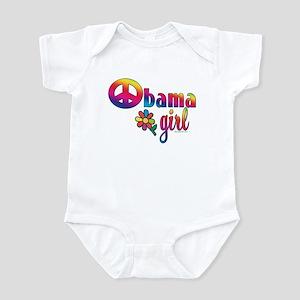 Obama Girls Peace Sign Infant Bodysuit
