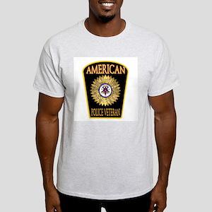 American Police Veterans Patc Ash Grey T-Shirt