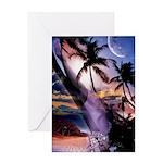 Hawaiian Palm Tree Fantasy Greeting Card