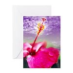 Hibiscus Flower Greeting Card