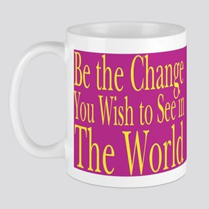 Be the Change (bright) Mug