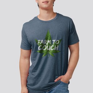 Marijuana Leaf Farm to Couch Funny Gift fo T-Shirt