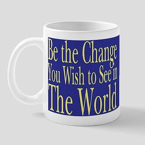 Be the Change (blue) Mug