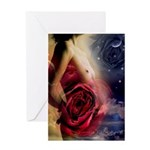 Fantasy Female Nude with Roses Greeting Card