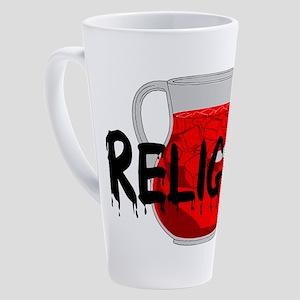 Religion Brainwashing Drink 17 oz Latte Mug