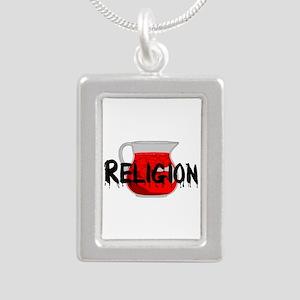 Religion Brainwashing Dr Silver Portrait Necklace