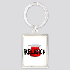 Religion Brainwashing Drink Portrait Keychain
